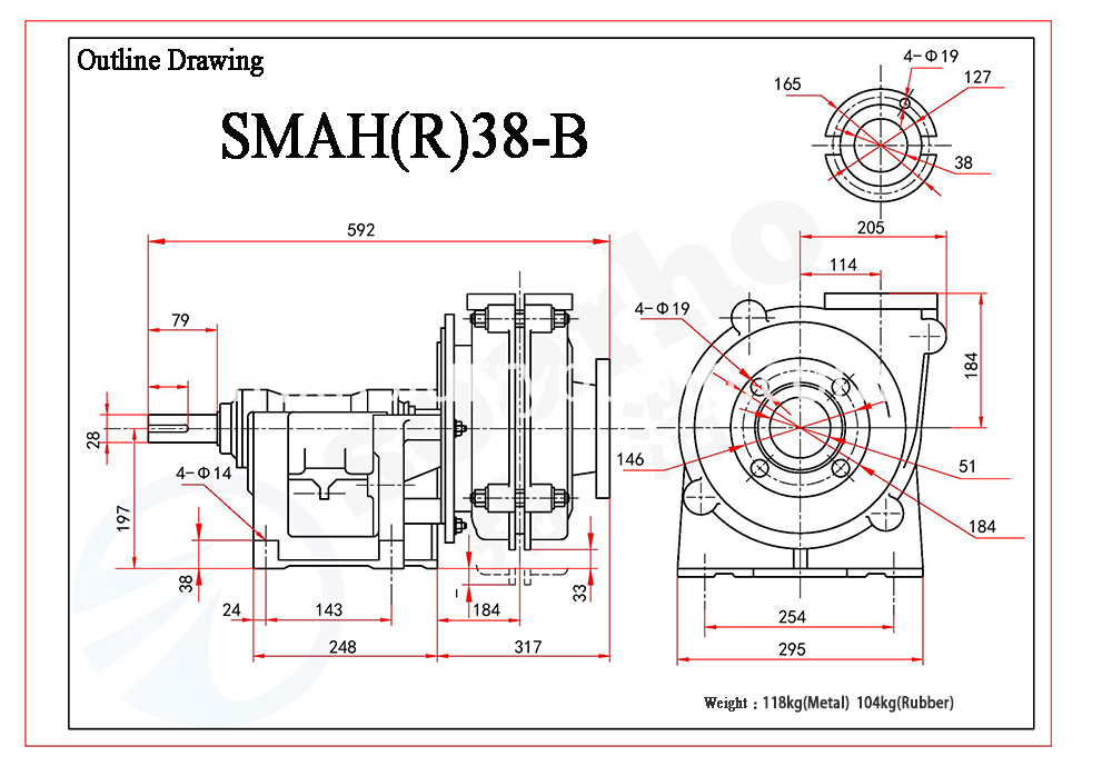 SMAH(R)38-B outline drawing